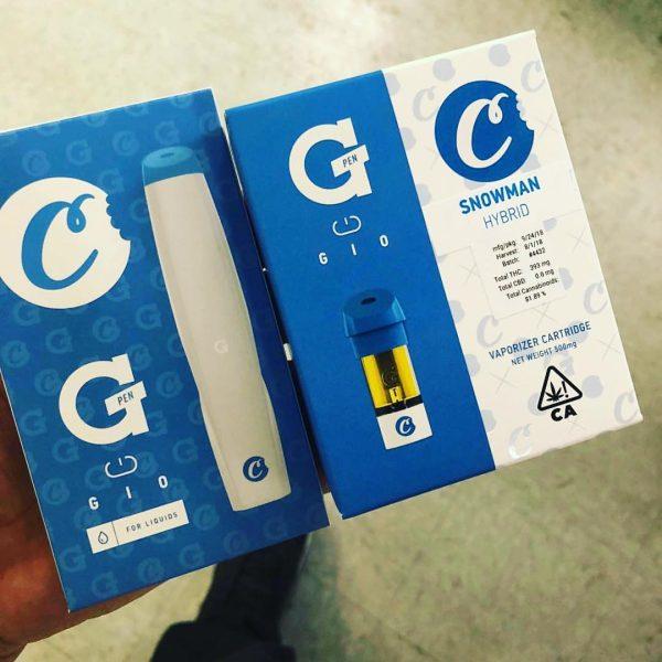 G pen gio oil vape cartridge